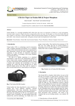 A Review Paper on Oculus Rift & Project Morpheus