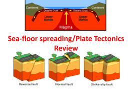 Sea Floor Spreading Plate Tectonics Review Game