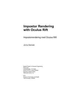Impostor Rendering with Oculus Rift