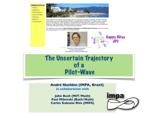 The Uncertain Trajectory of a Pilot-Wave