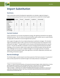 import substitution tool