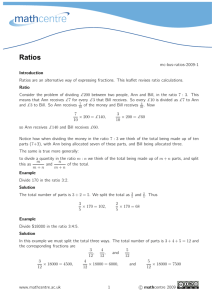 Ratios - Math Centre