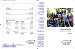 Family Guide 2012-13 - Southern New Hampshire University