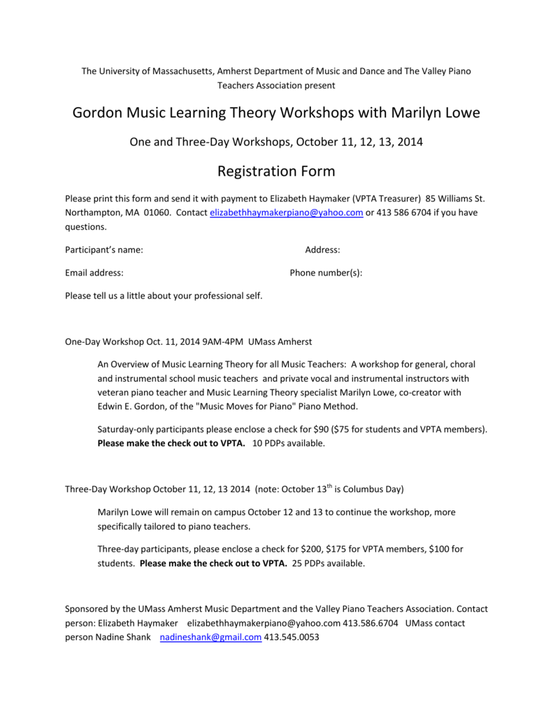 Gordon Music Learning Theory Workshops with Marilyn Lowe