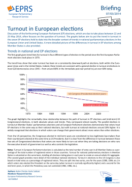 Turnout in European elections Briefing