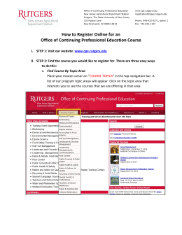 How to Register Online for OCPE Courses