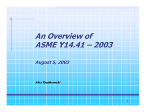 An Overview of ASME Y14.41 – 2003