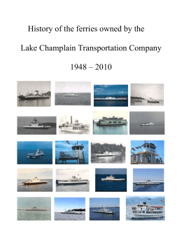 History of the ferries owned by the Lake Champlain Transportation