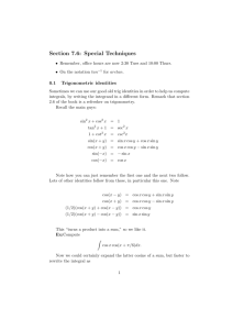Section 7.6: Special Techniques