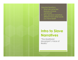 Intro to Slave Narratives