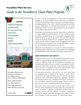 Guide to the Strawberry Clean Plant Program