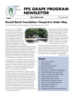 FPS GRAPE PROGRAM NEWSLETTER