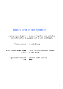 Roots and Word Families