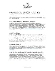 BUSINESS AND ETHICS STANDARDS