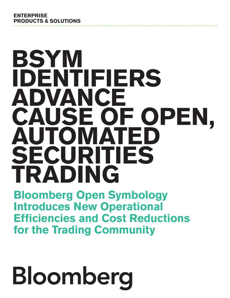 Bsym Identifiers Bloomberg Open Symbology