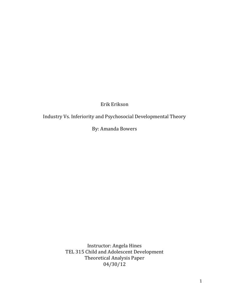analysis of psychosocial development theory