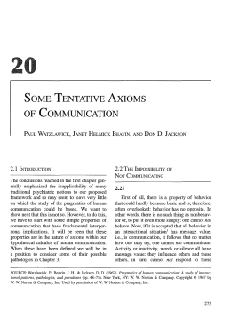 some tentative axioms of communication