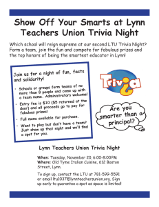 Show Off Your Smarts at Lynn Teachers Union Trivia Night