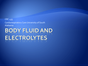 Body Fluid and Electrolytes