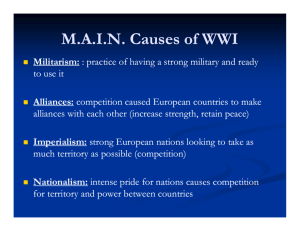 WWI - Causes of the War PPT