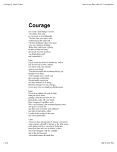 Courage by Anne Sexton - InteractiveReading-ELHS