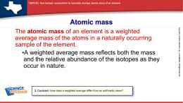 Average Atomic Mass