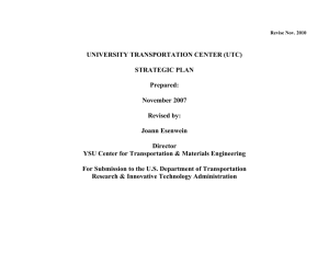 UTC Strategic Plan - Youngstown State University