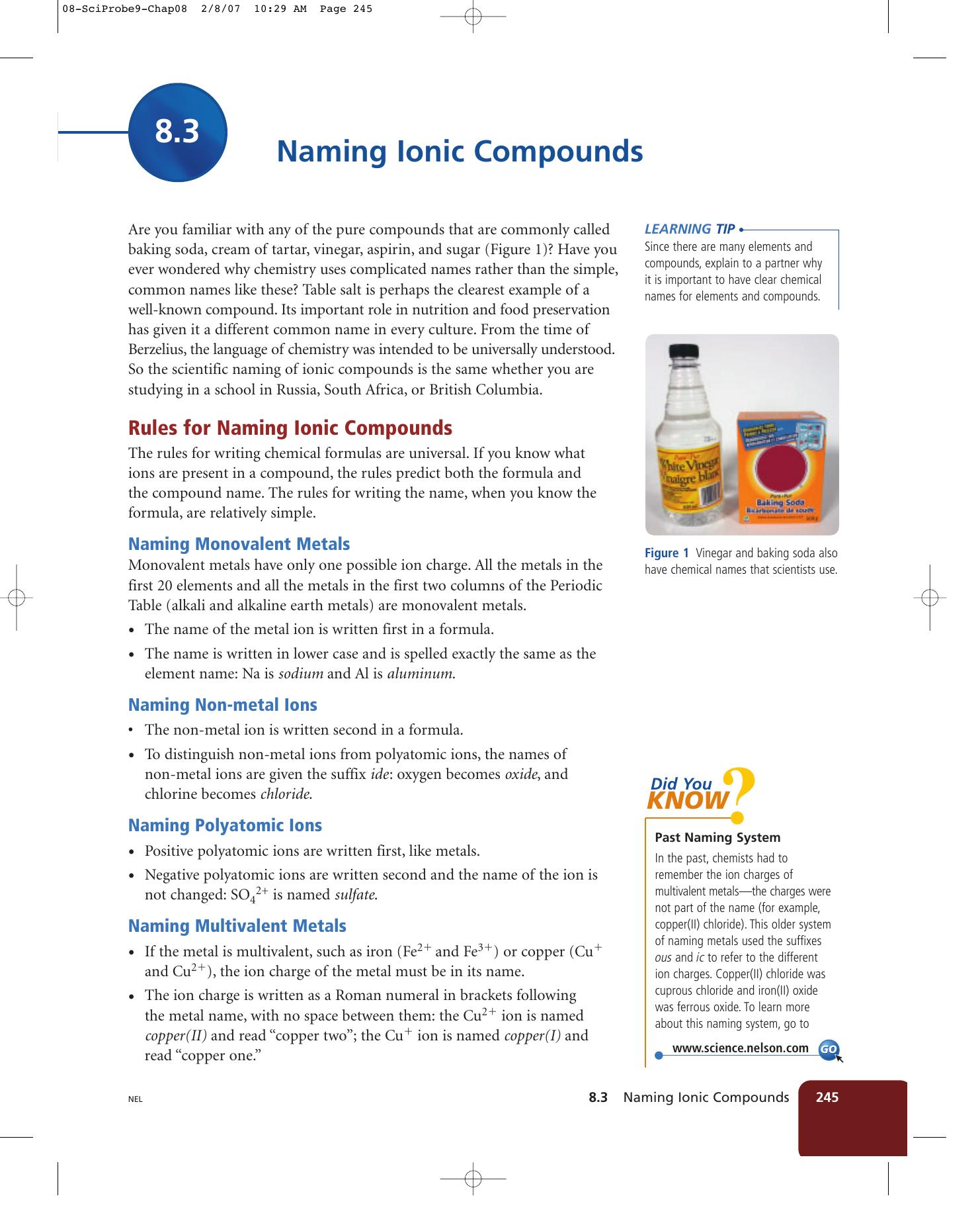 Naming ionic compounds urtaz Images