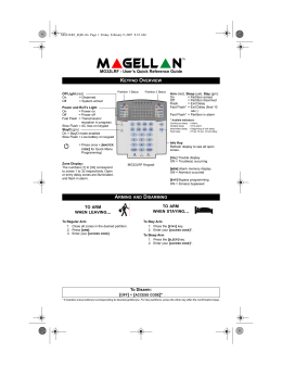 Paradox Magellan MG32LRF-EQ01 User Manual