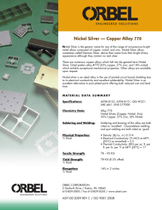 Nickel Silver — Copper Alloy 770