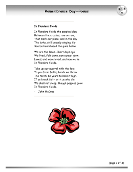 Remembrance Day—Poems