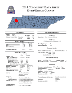 2015 COMMUNITY DATA SHEET DYER/GIBSON COUNTY