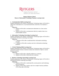 Rutgers Business School Master of Information Technology Program