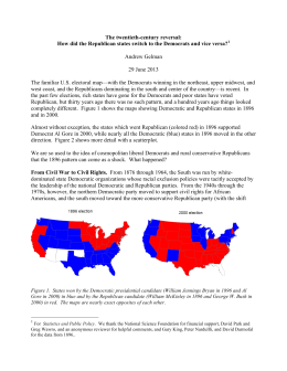 The twentieth-century reversal: How did the Republican states