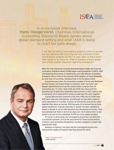 In an exclusive interview, Hans Hoogervorst, Chairman