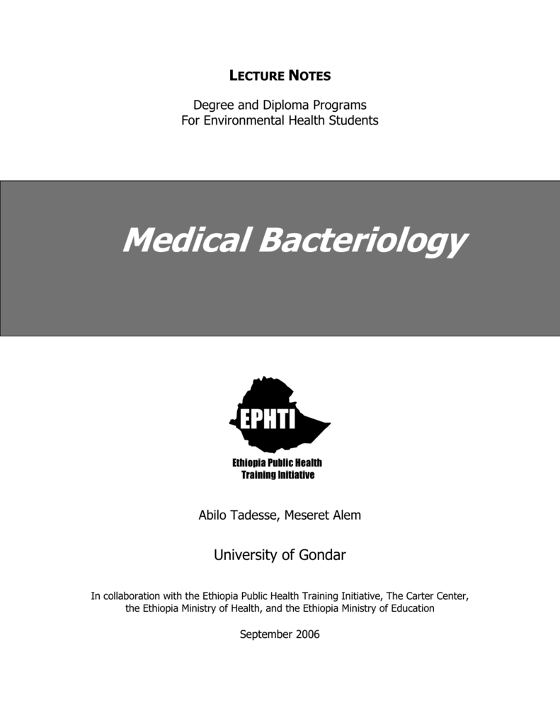 Medical Bacteriology