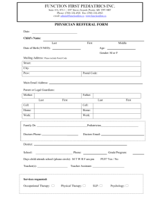 referral form - Function First Pediatrics Inc.