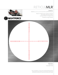 reticlemlr - Nightforce Optics