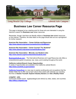 Business Law Career Resource Page
