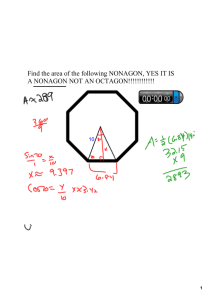 Find the area of the following NONAGON, YES IT IS A