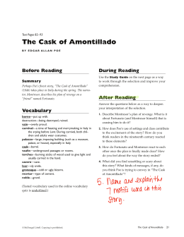 The Cask Of Amontillado The Cask Of Amontillado English Essay Pmr also Essay On Health  Sample Persuasive Essay High School