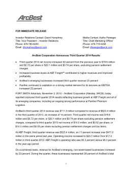 full release. - ABF Freight System, Inc.