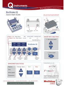 Quick-start Guide Bioshake iQ