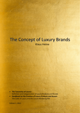 here - The Concept of Luxury Brands