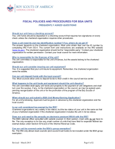 fiscal policies and procedures for bsa units