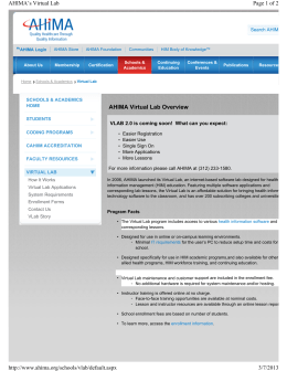 AHIMA Virtual Lab Overview