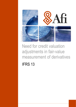 Need for credit valuation adjustments in fair-value measurement