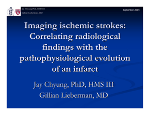 Imaging ischemic strokes: Correlating radiological findings with the