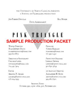 SAMPLE PRODUCTION PACKET
