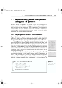 4.7 implementing generic components using java 1.5 generics 131